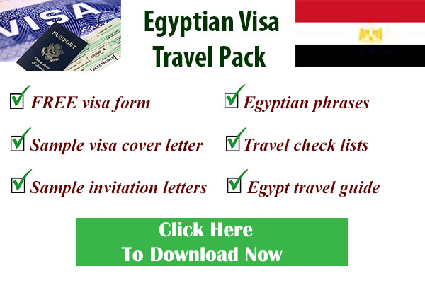 Egyptian visa form