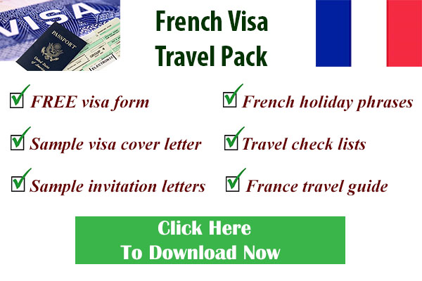 French visa form