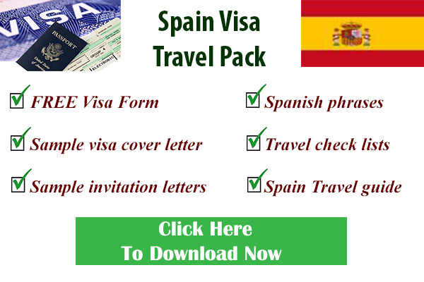 Spanish visa form